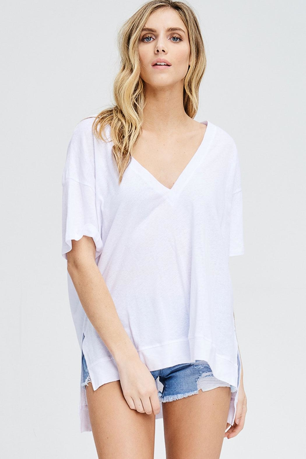 Maronie  Amiee V-Neck Top - Front Full Image