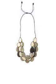 Organic Tagua Jewelry Amigas Organic Necklace - Front cropped