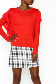 Amite Orange Frill Top - Front cropped