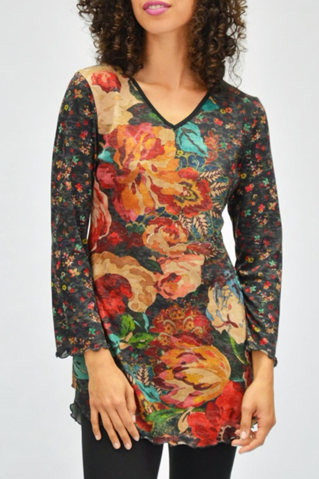 AMMA Designs Floral Tunic - Front Cropped Image