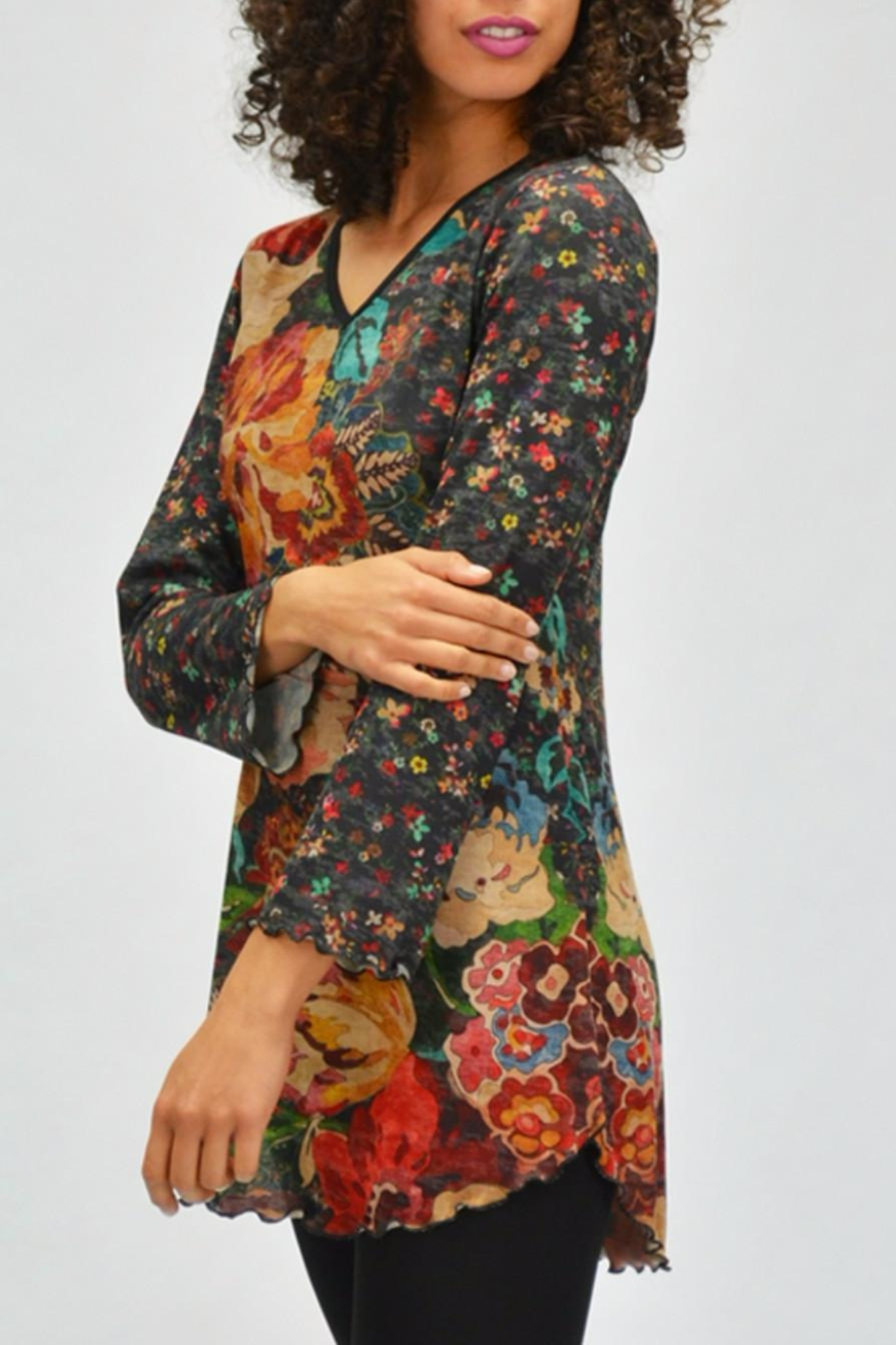 AMMA Designs Floral Tunic - Back Cropped Image