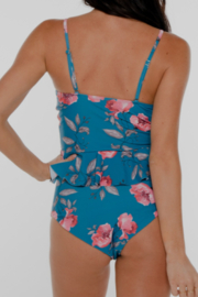Coral Reef Swimwear  Among the Waves Curvy Swim Top - Front full body