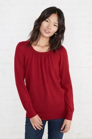 Amour Vert Draped-Back Sweater - Front cropped