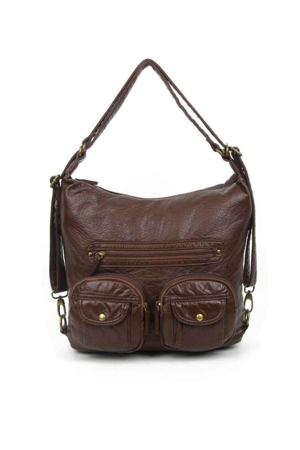 Ampere Creations Convertible Vegan Backpack - Front Cropped Image