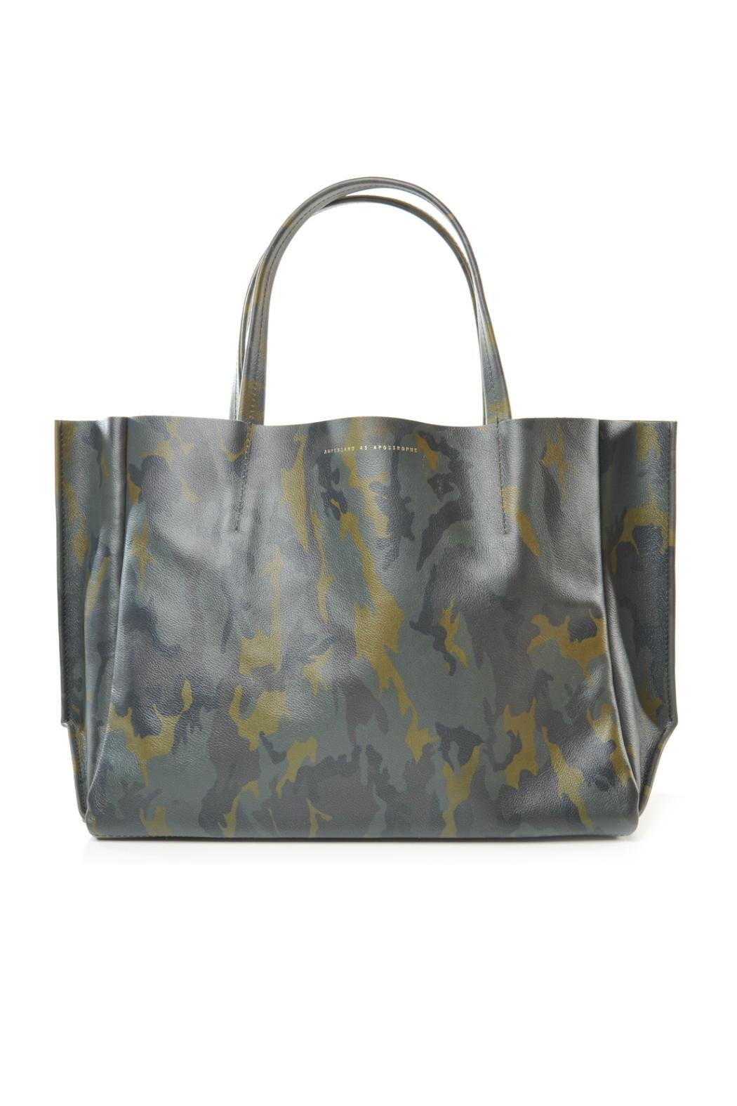 Ampersand As Apostrophe Camouflage Sideways Tote - Main Image