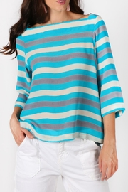 Anupamaa Amritsa Aqua-Stripe Top - Product Mini Image
