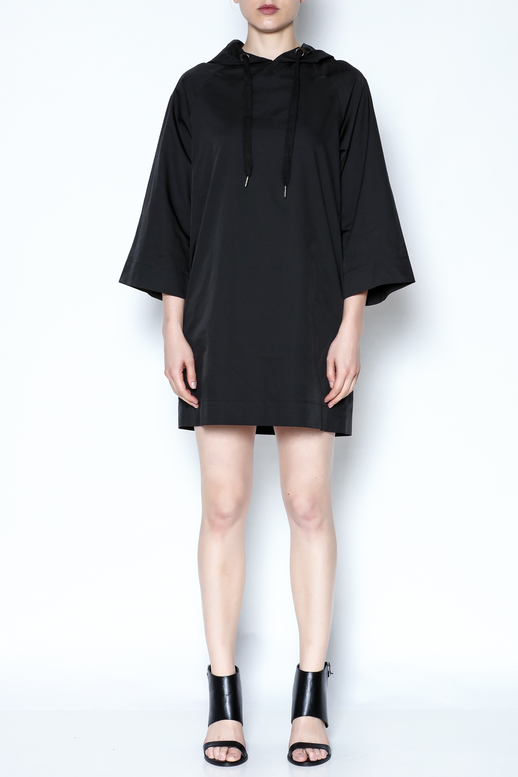 AMT Sporty Black Dress - Front Full Image