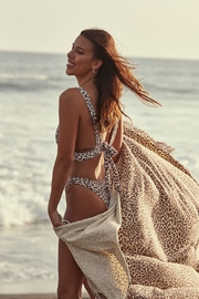 the beach people Amur Leopard Travel Towel - Front cropped