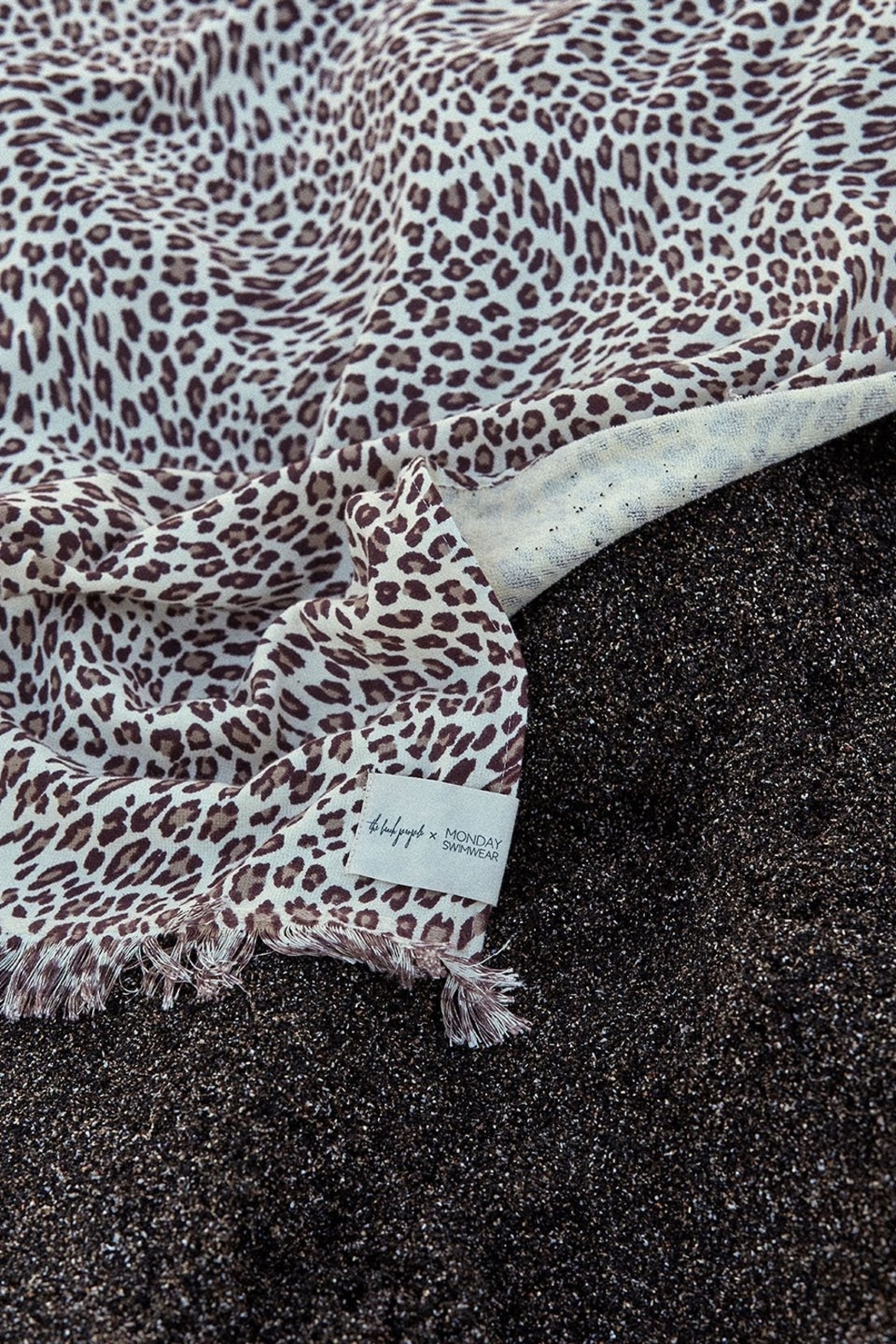 the beach people Amur Leopard Travel Towel - Side Cropped Image