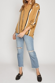AMUSE SOCIETY Bea Woven Top - Side cropped