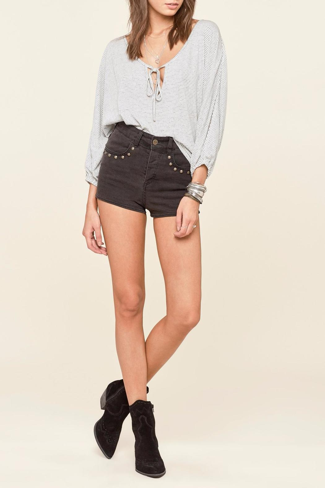 AMUSE SOCIETY Bedford Knit Top - Side Cropped Image