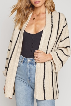 Shoptiques Product: Black Stripped Cardigan