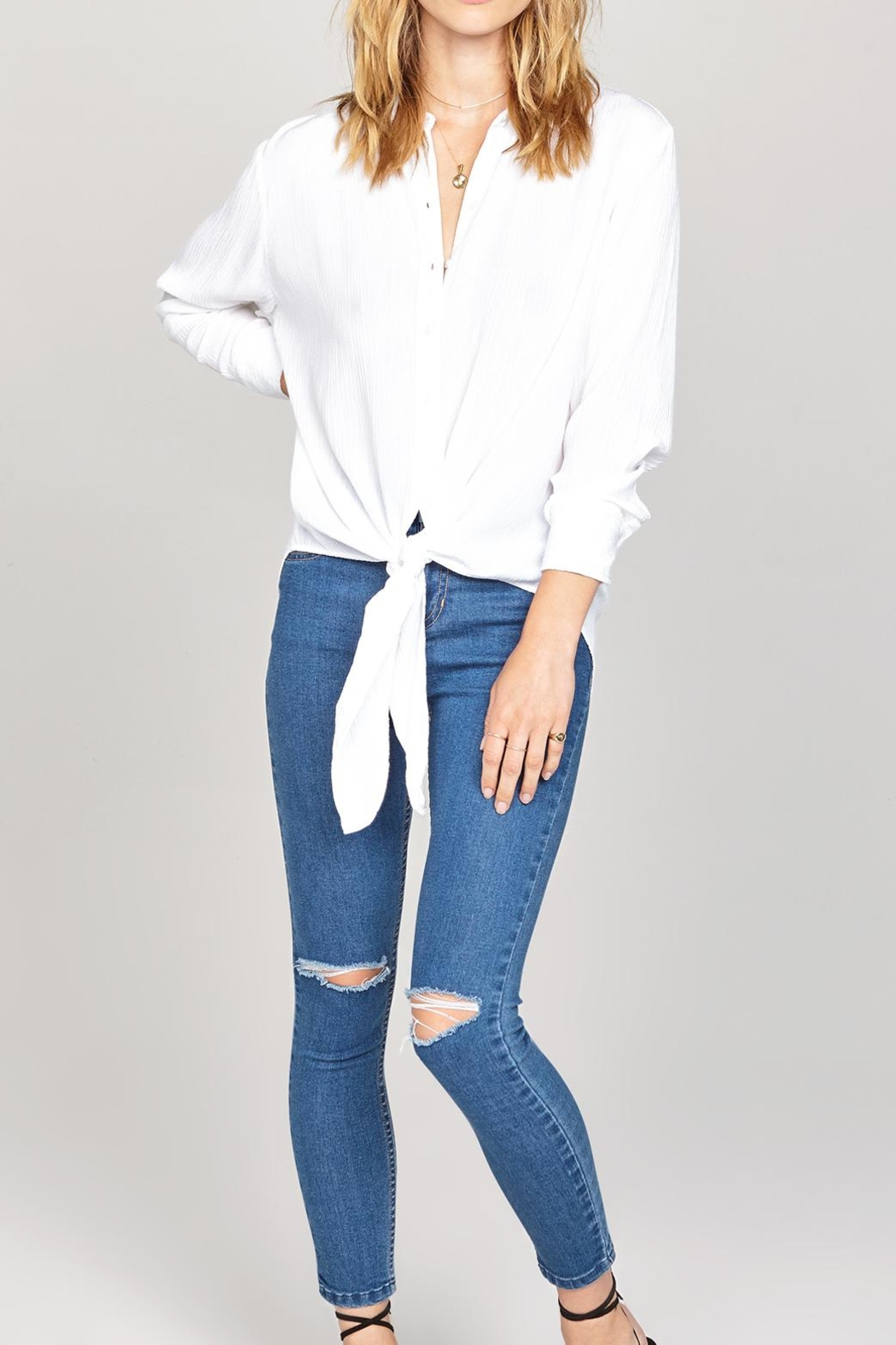 AMUSE SOCIETY C'est Woven Top - Side Cropped Image