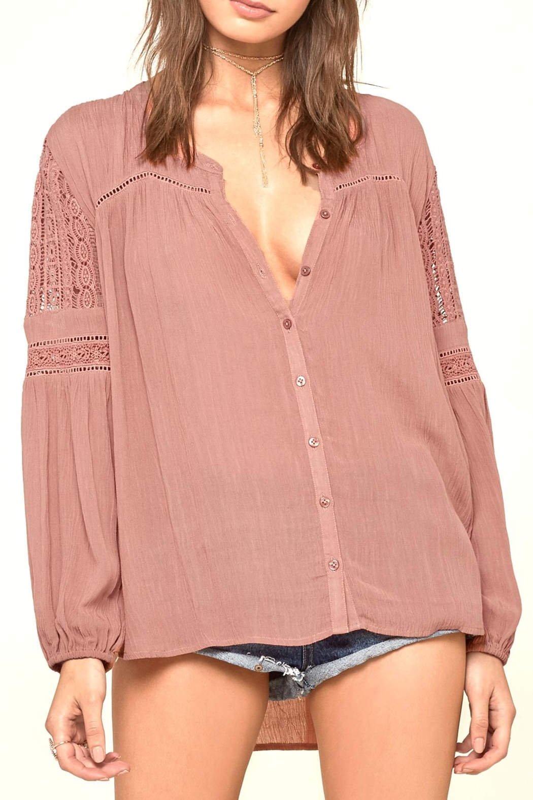 AMUSE SOCIETY Crawford Woven Top - Front Cropped Image