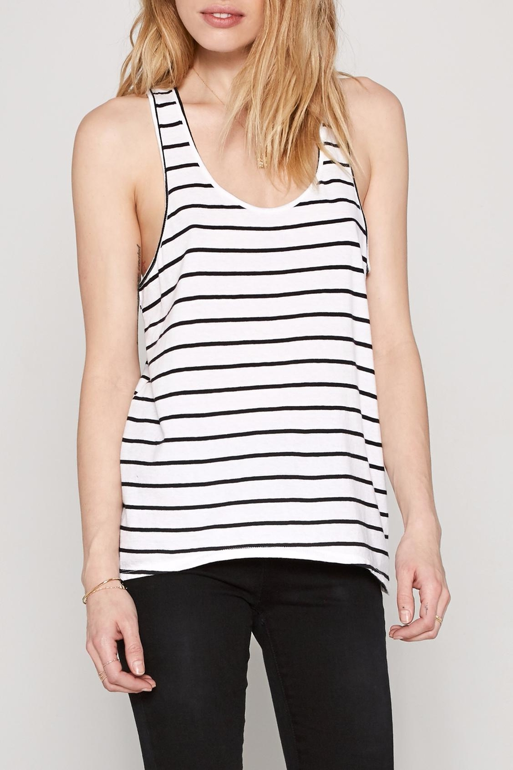 AMUSE SOCIETY Davis Stripe Tank Top - Front Cropped Image