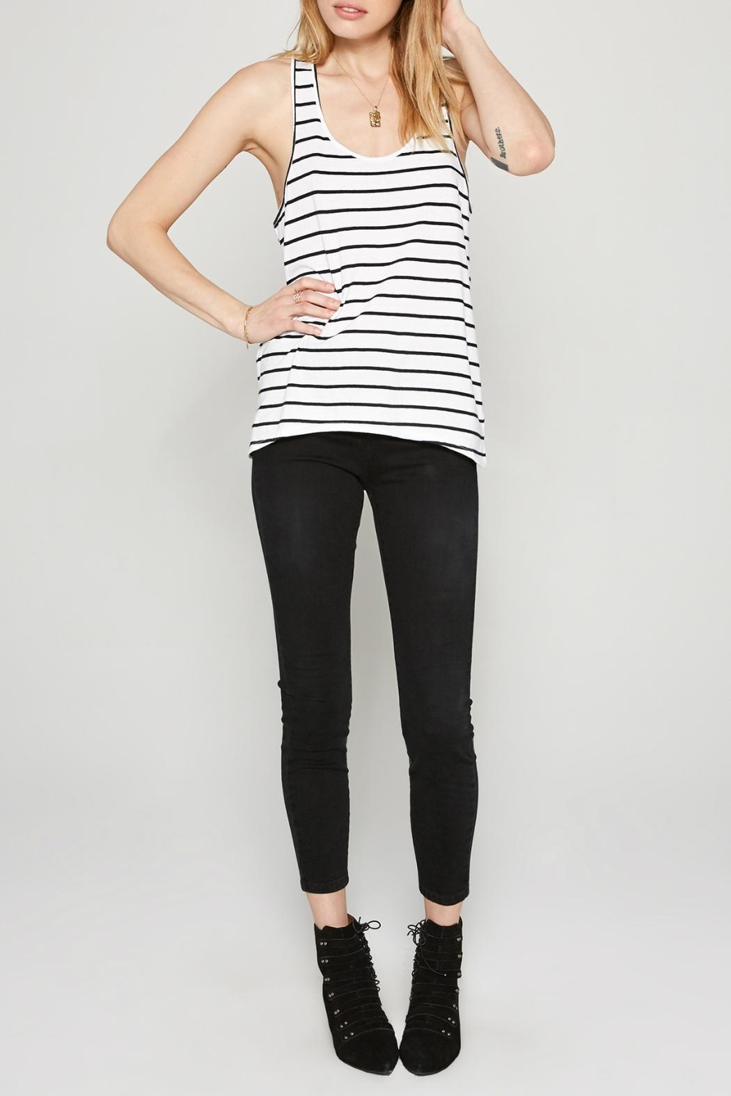 AMUSE SOCIETY Davis Stripe Tank - Side Cropped Image