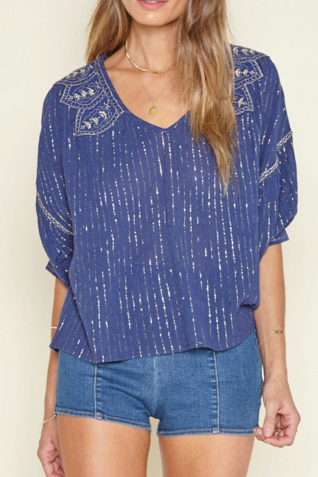 AMUSE SOCIETY Embellished Woven Top - Main Image