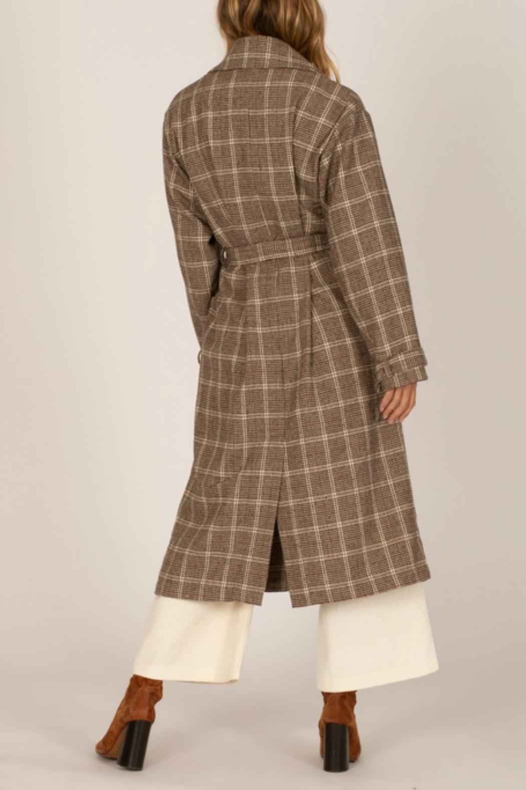 AMUSE SOCIETY Emmanuelle Plaid Jacket - Front Full Image