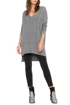 Shoptiques Product: Grey Long Sweater