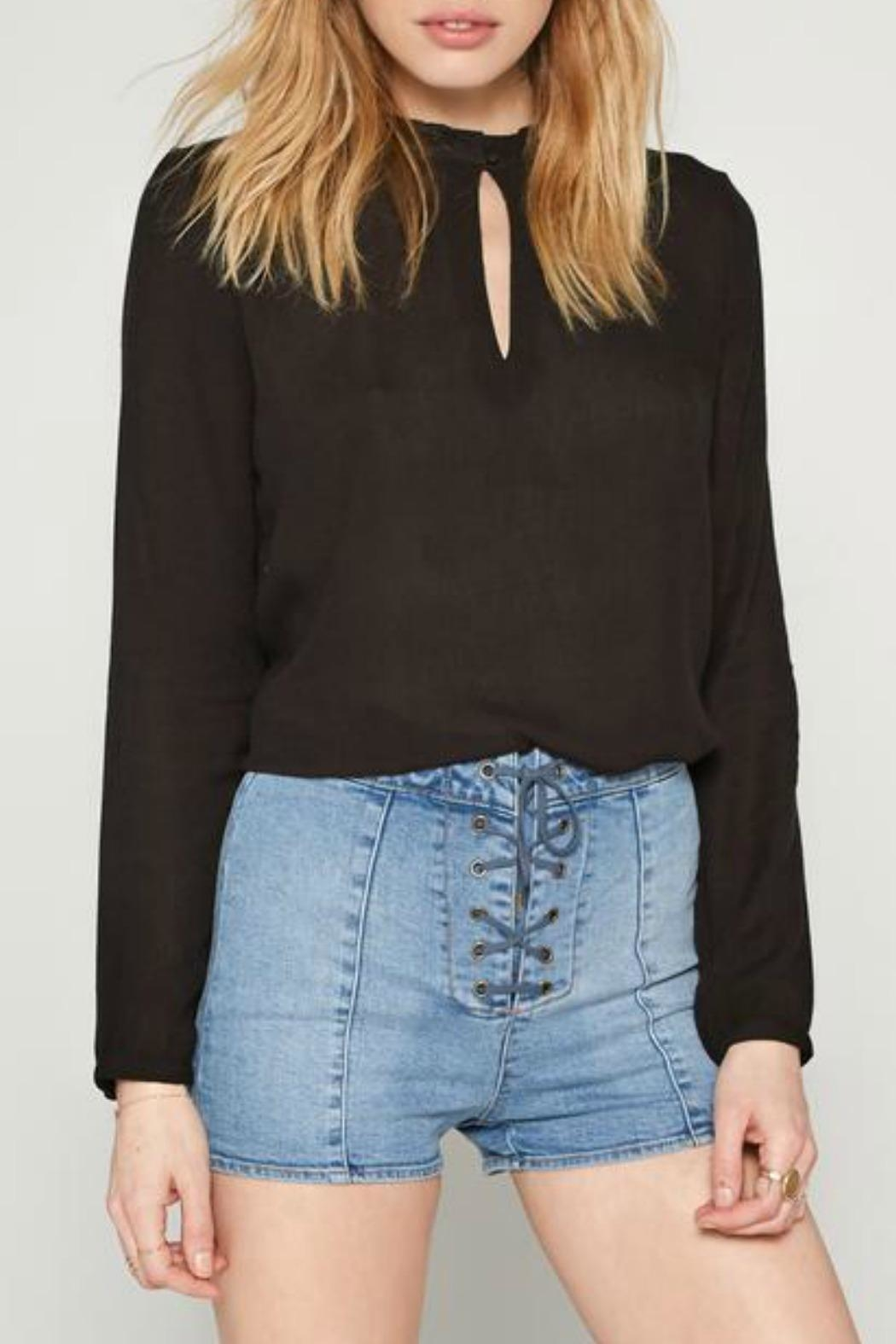 AMUSE SOCIETY Paislee Woven Top - Front Cropped Image