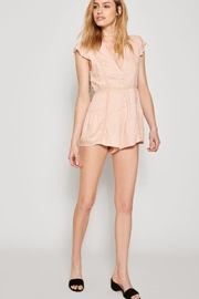 AMUSE SOCIETY Pink Lace Romper - Side cropped