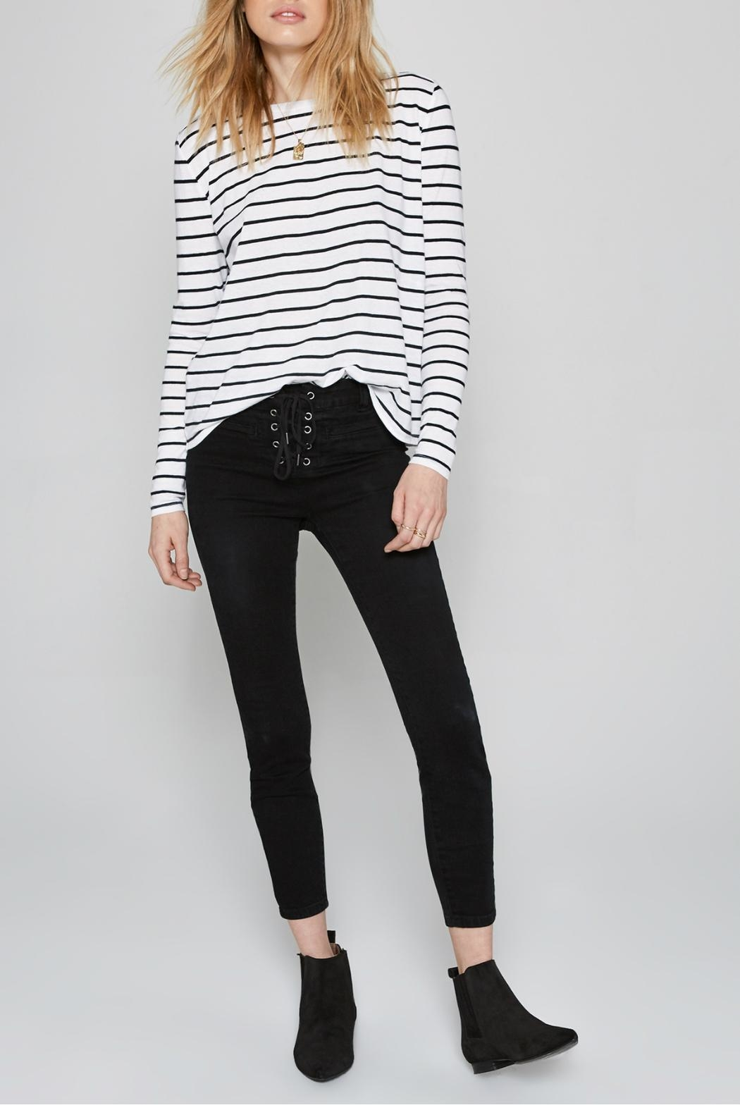 AMUSE SOCIETY Ryan Stripe Tee - Side Cropped Image