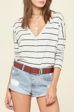 AMUSE SOCIETY Striped Long Sleeve Top - Product List Image
