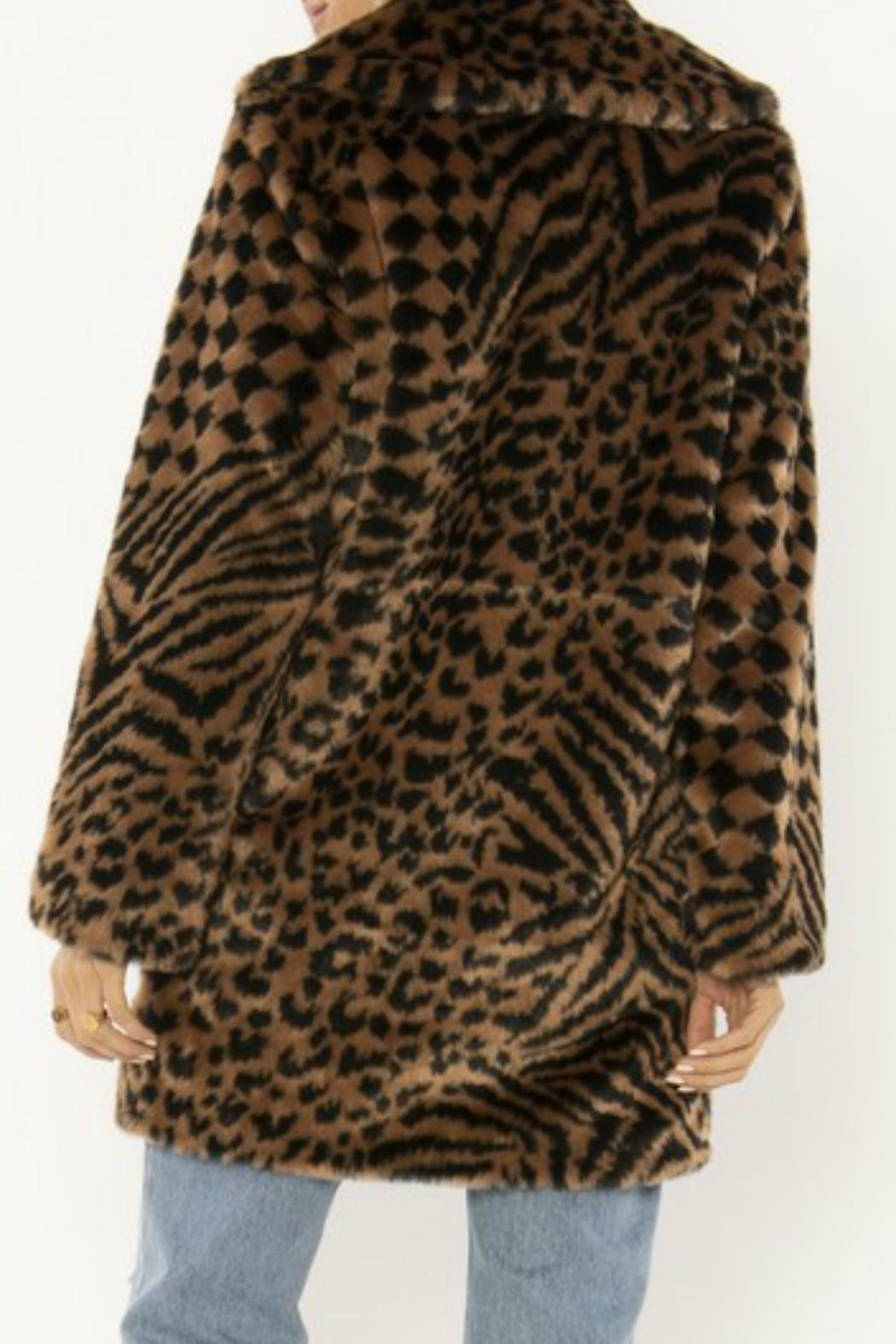 AMUSE SOCIETY Vera Faux Fur - Side Cropped Image