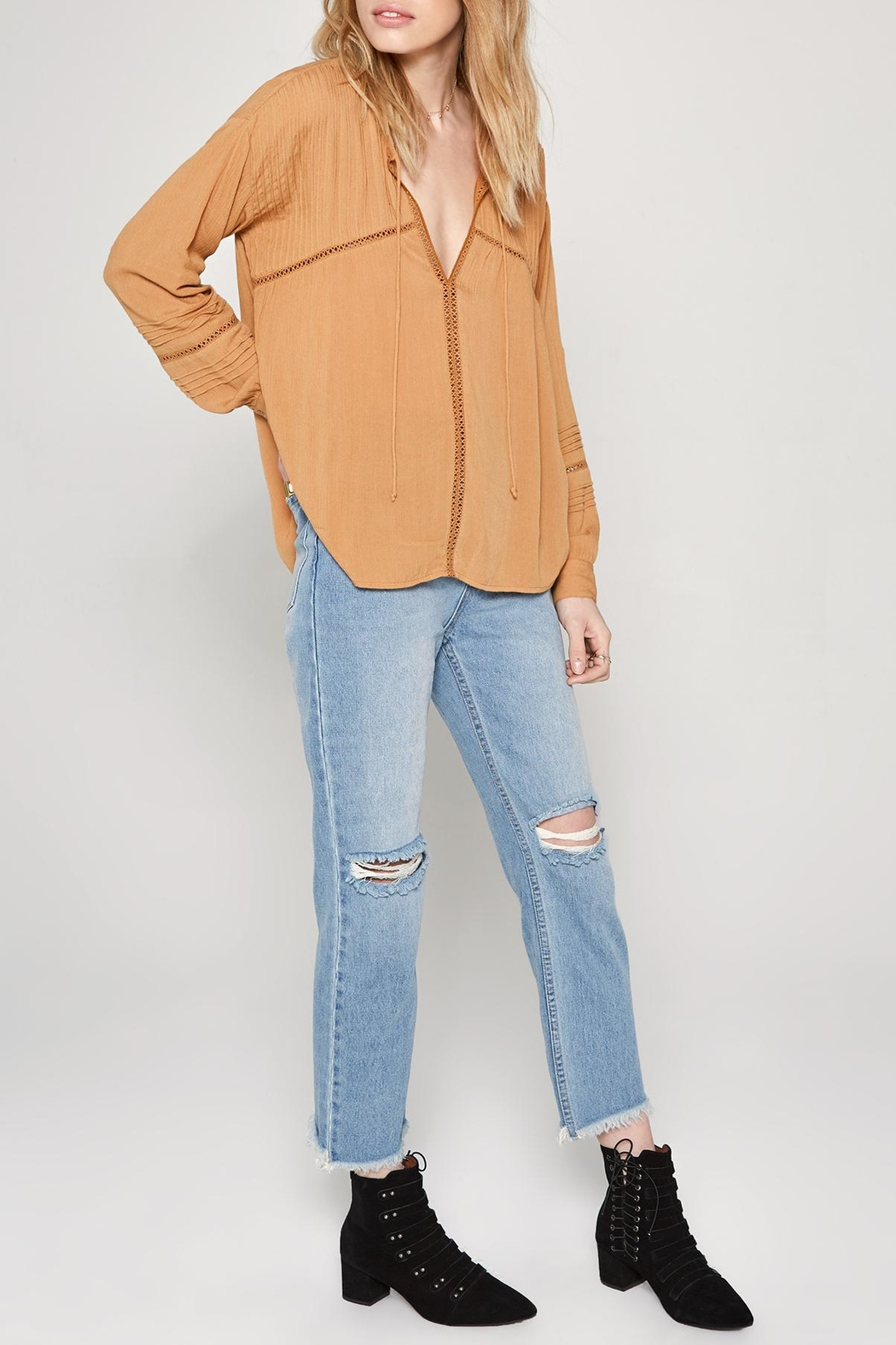 AMUSE SOCIETY Zelia Woven Top - Side Cropped Image