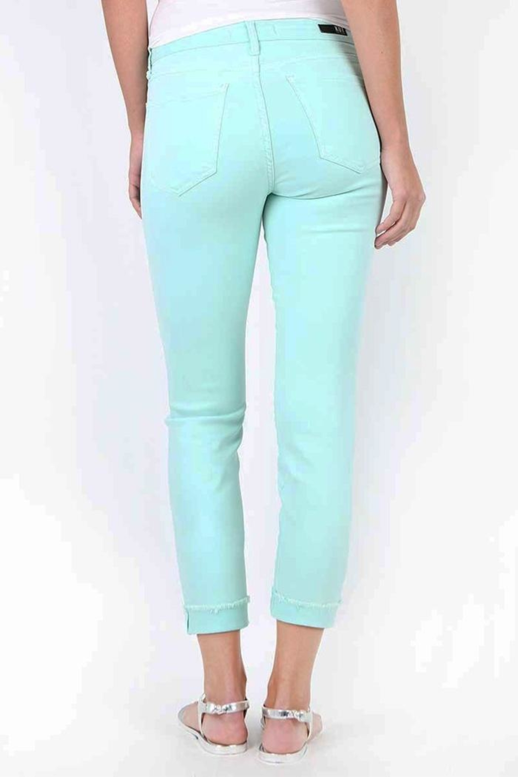 Kut from the Kloth Amy Mint Jean - Front Full Image