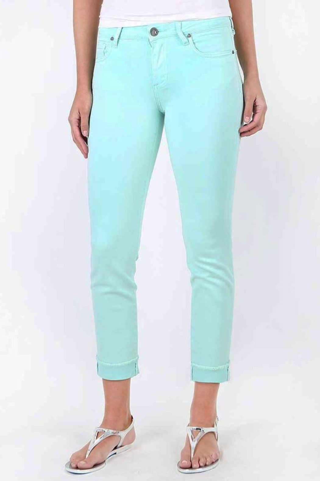 Kut from the Kloth Amy Mint Jean - Main Image
