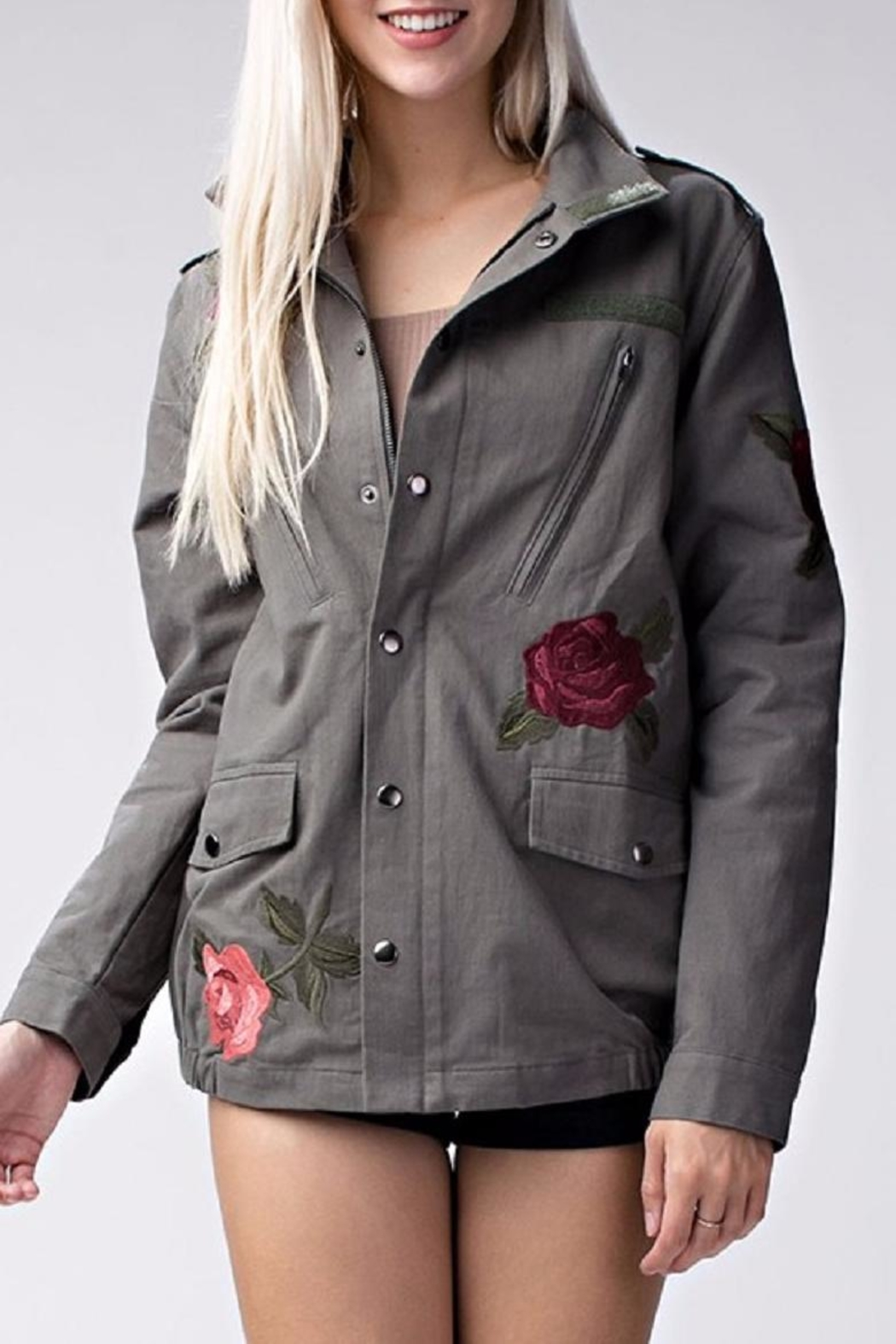 Amy's Allie  Rose Army Jacket - Front Cropped Image