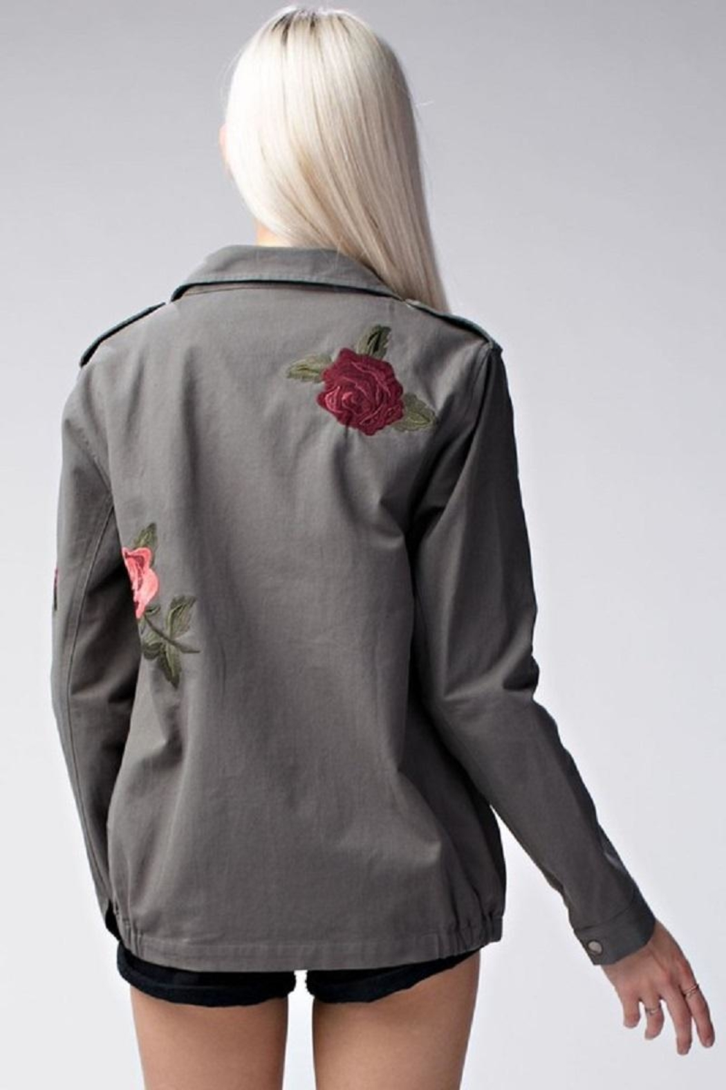 Amy's Allie  Rose Army Jacket - Front Full Image