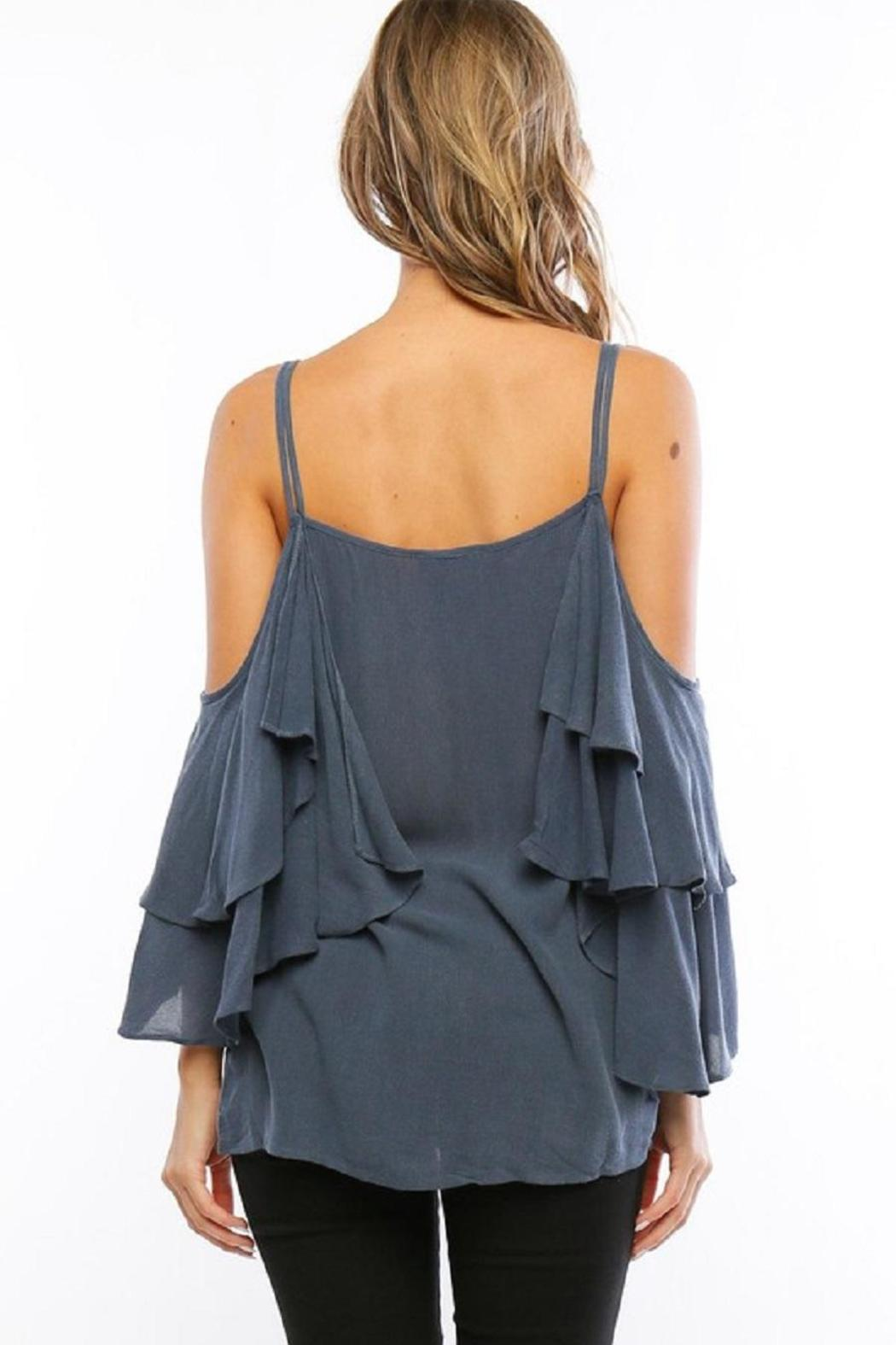 Amy's Allie  Ruffled Bell Blouse - Side Cropped Image