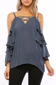 Amy's Allie  Ruffled Bell Blouse - Front cropped