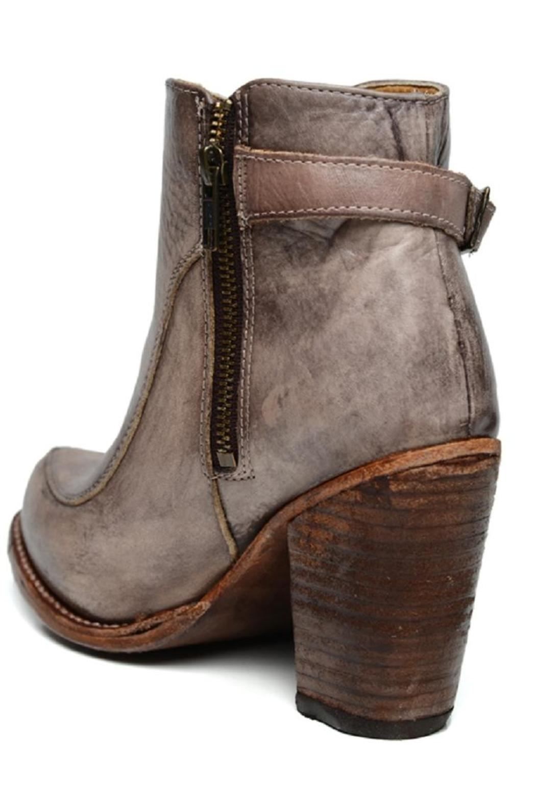 Amy's Allie  Stacked Leather Bootie - Front Full Image