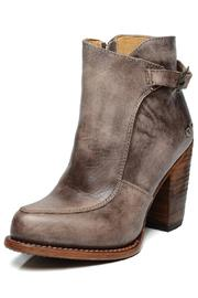 Amy's Allie  Stacked Leather Bootie - Front cropped