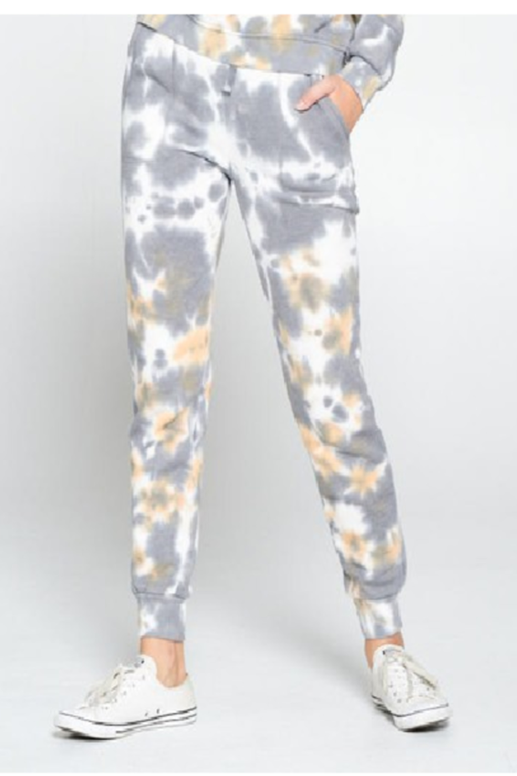 Cest Toi Amy Tye Dye Jogger - Front Cropped Image