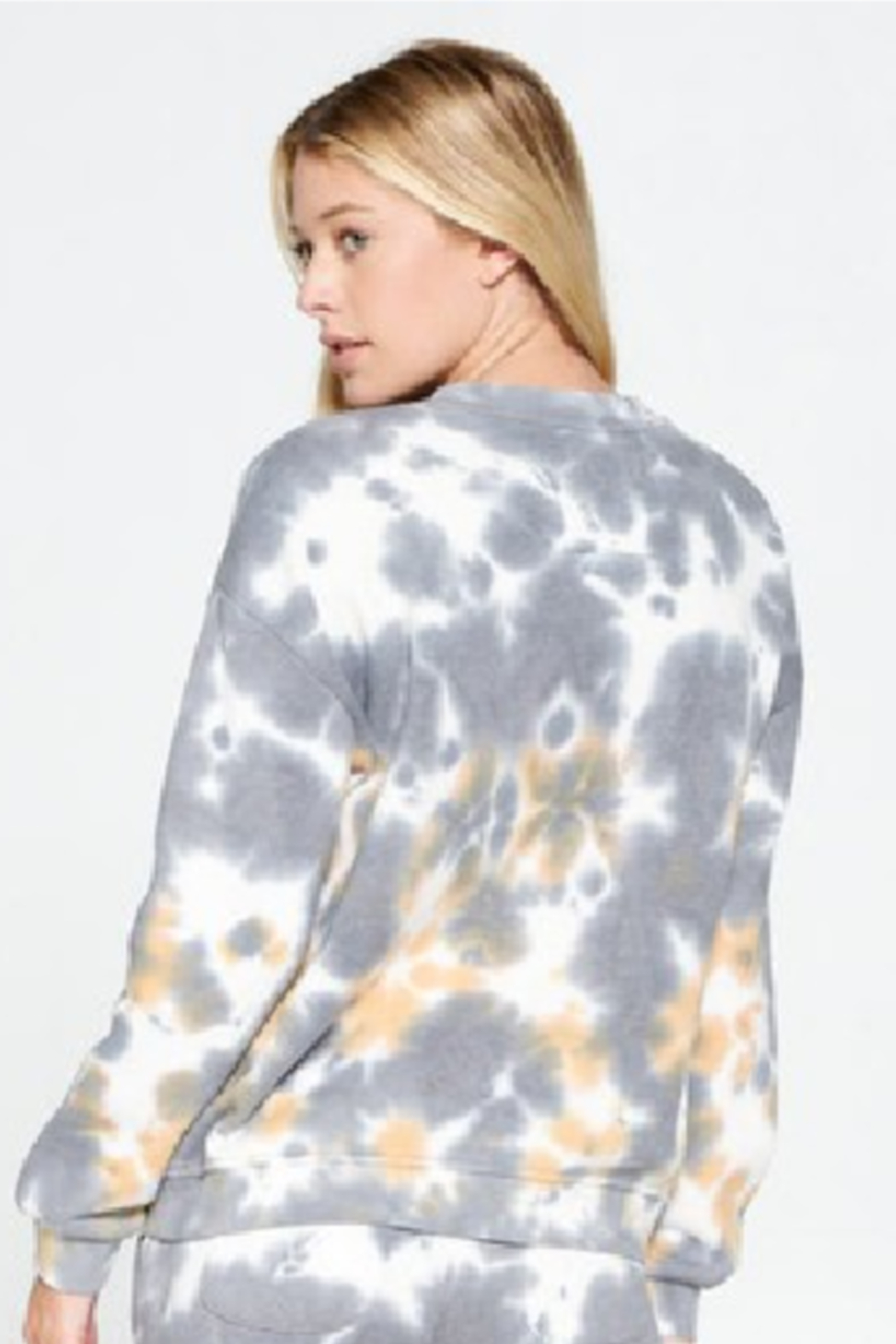 Cest Toi Amy Tye Dye Pullover - Front Cropped Image