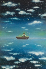 AMY GRIMES Fishing Stars Print - Product Mini Image
