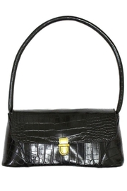 Ana Accessories Black Alligator Pattern Flap Bag - Product Mini Image