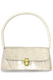 Ana Accessories Beige Alligator Pattern Flap Bag - Product Mini Image