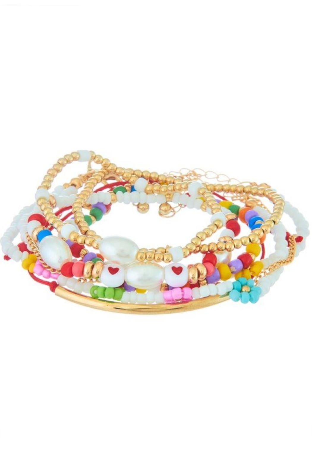 Ana Accessories Assorted Bead Girly Bracelet - Main Image