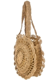 Ana Accessories Crochet Circle Bag - Front full body