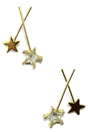 Ana Accessories Crossed Star Stick Post Drop Earring - Product Mini Image