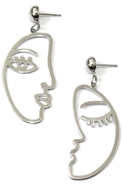 Ana Accessories Cut Out Abstract Face Earrings - Product Mini Image