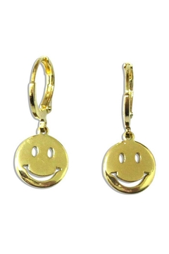 Ana Accessories Cut Out Smiley Earrings - Alternate List Image