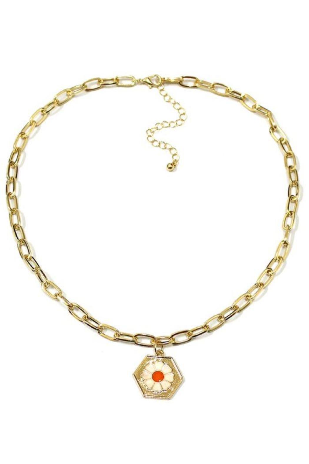 Ana Accessories Daisy Pendant Chain Necklace - Main Image