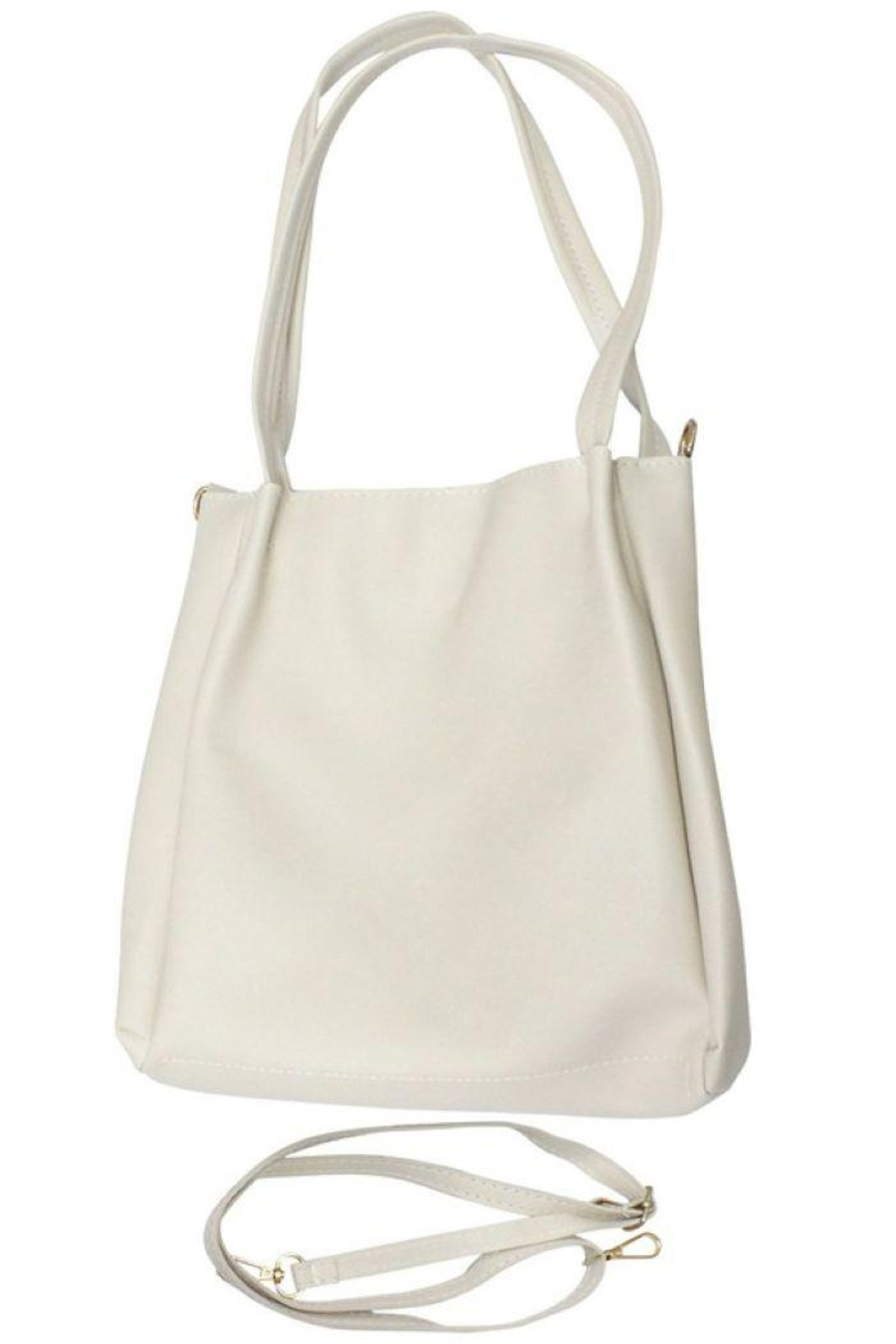 Ana Accessories Faux Leather Crossbody Bag - Front Cropped Image