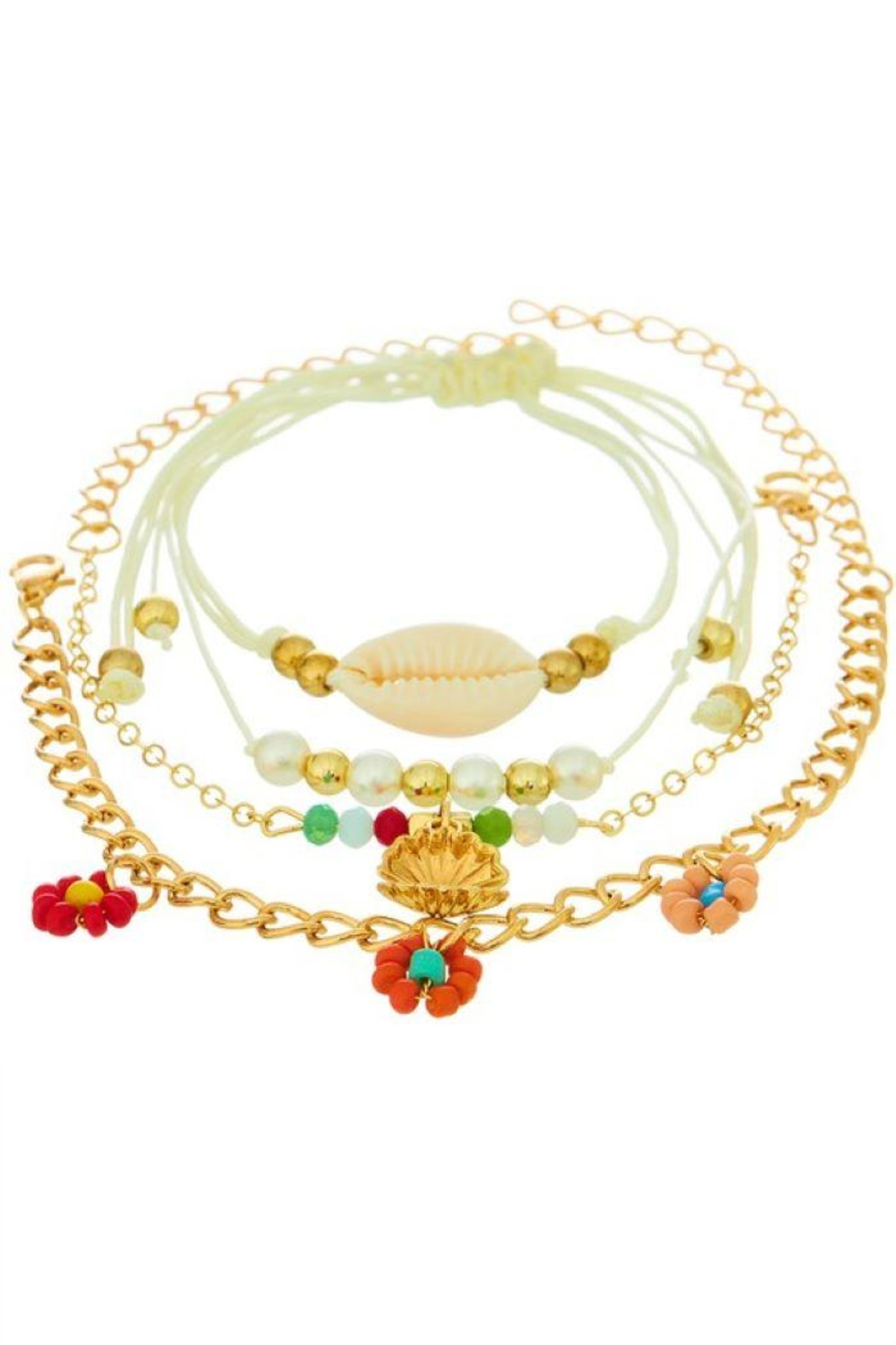 Ana Accessories Four Layered Anklet - Main Image